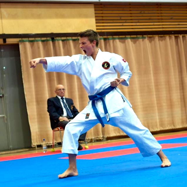 Our son Max, who became KSI Karate European Champion in Kumite (2009) and World Champion in Kata (2010).