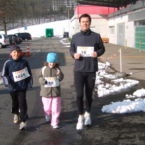 First real run with kids over a distance of 1'000m